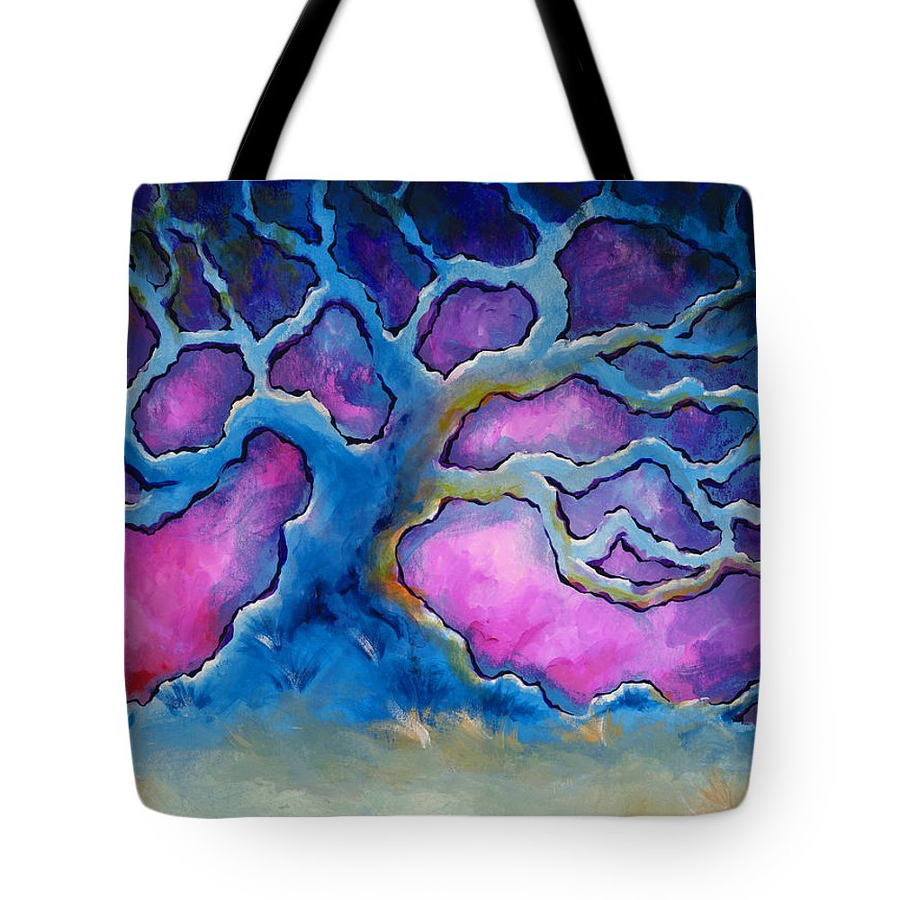 Landscape Tote Bag featuring the painting Ria by Jennifer McDuffie