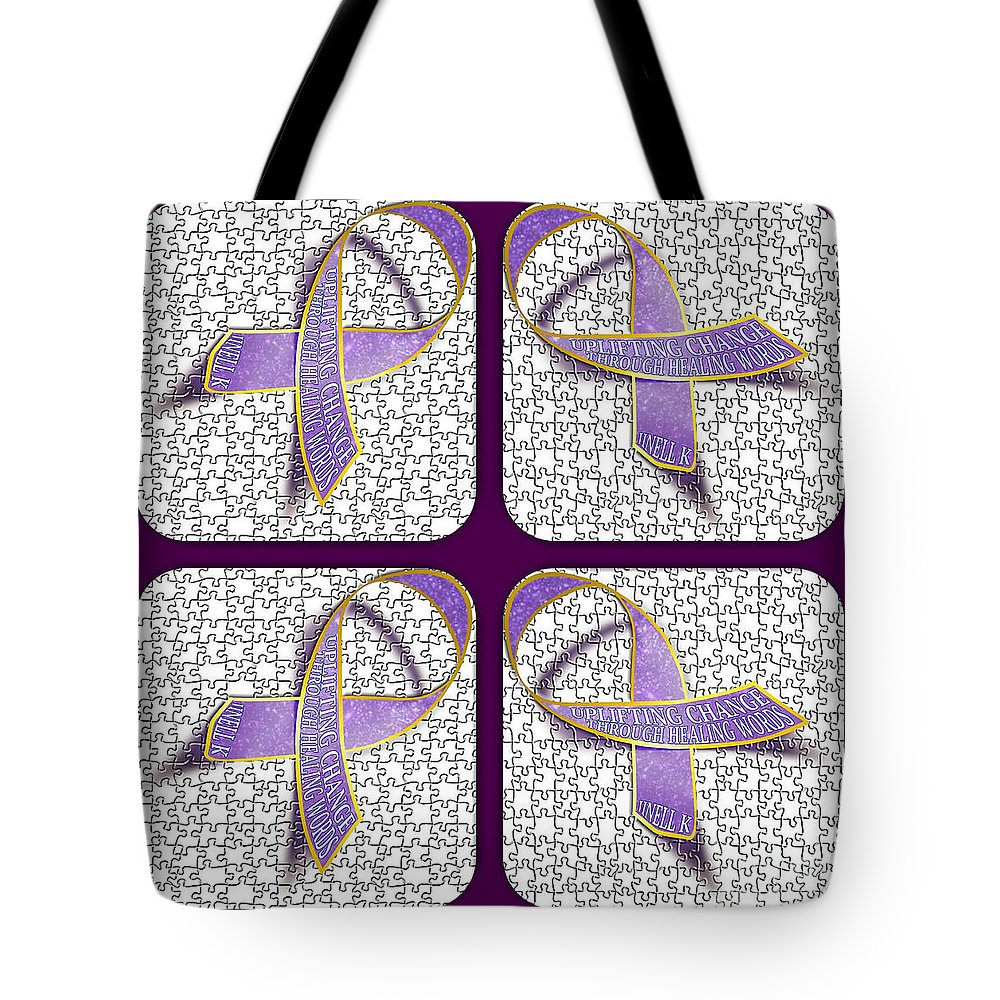 Ribbon Tote Bag featuring the digital art Ribbon Of Change by Jinell K