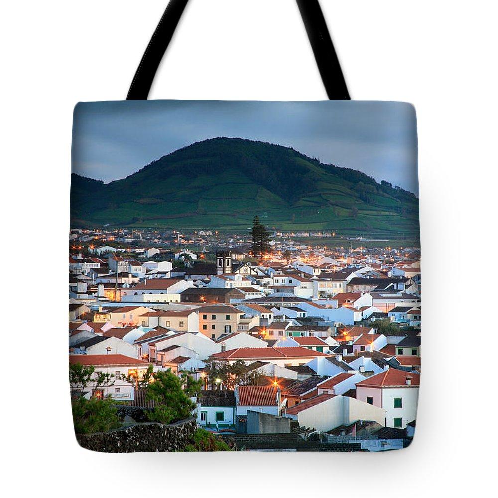 Europe Tote Bag featuring the photograph Ribeira Grande At Nightfall by Gaspar Avila