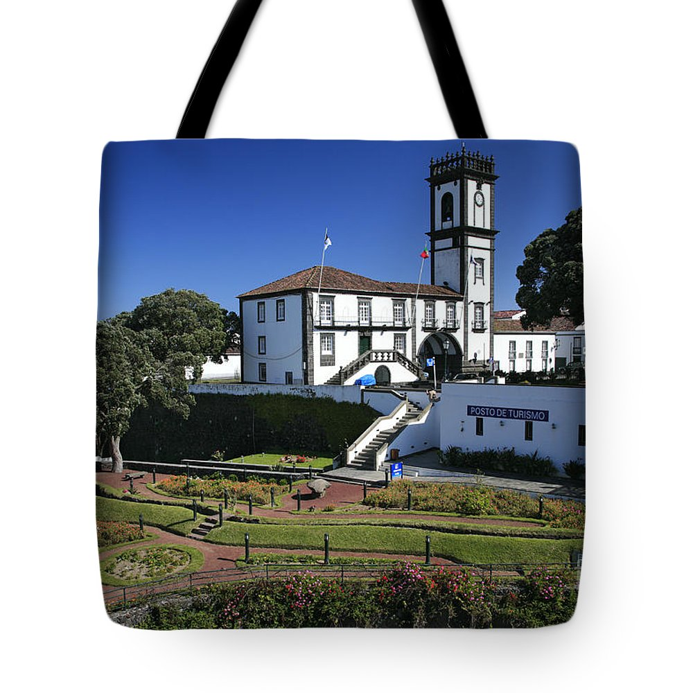 Facade Tote Bag featuring the photograph Ribeira Grande Azores by Gaspar Avila