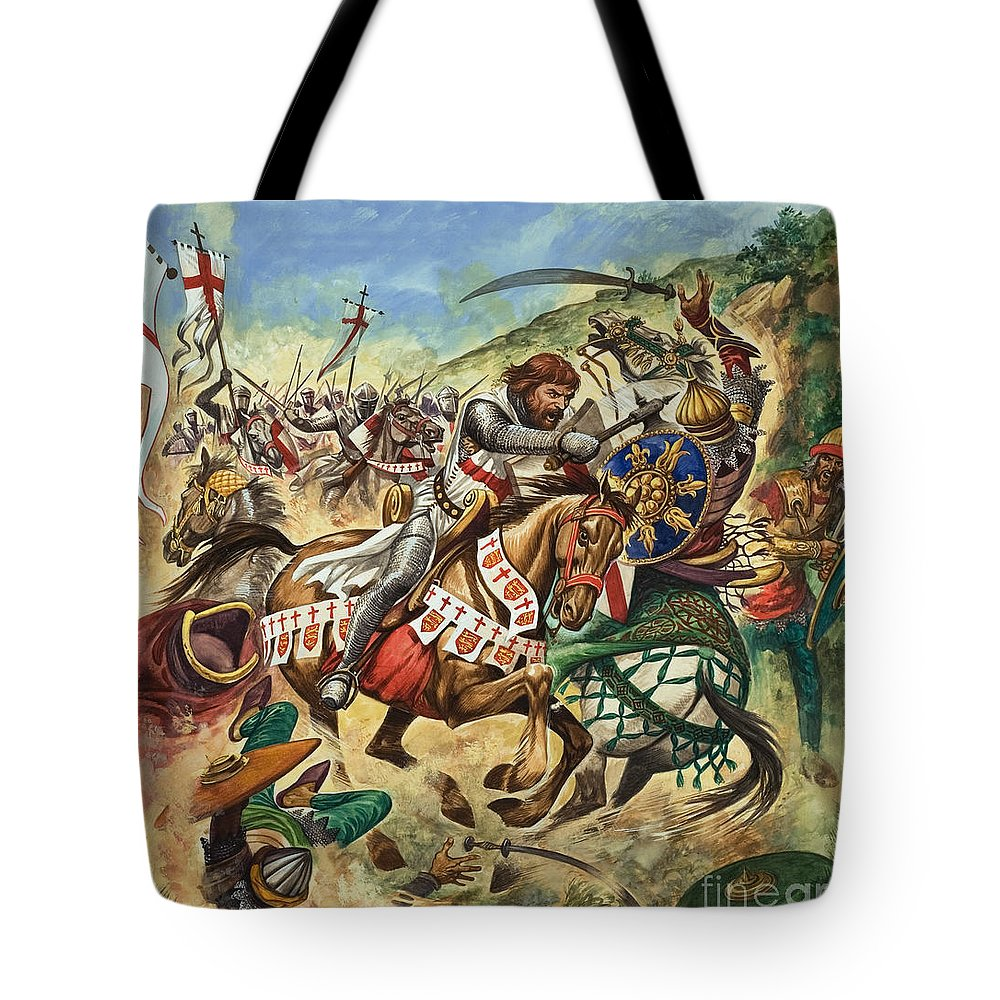 Richard The Lionheart During The Crusades Tote Bag