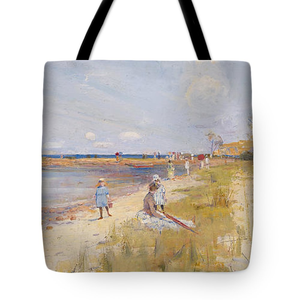 Charles Conder Tote Bag featuring the painting Rickett's Point by Celestial Images
