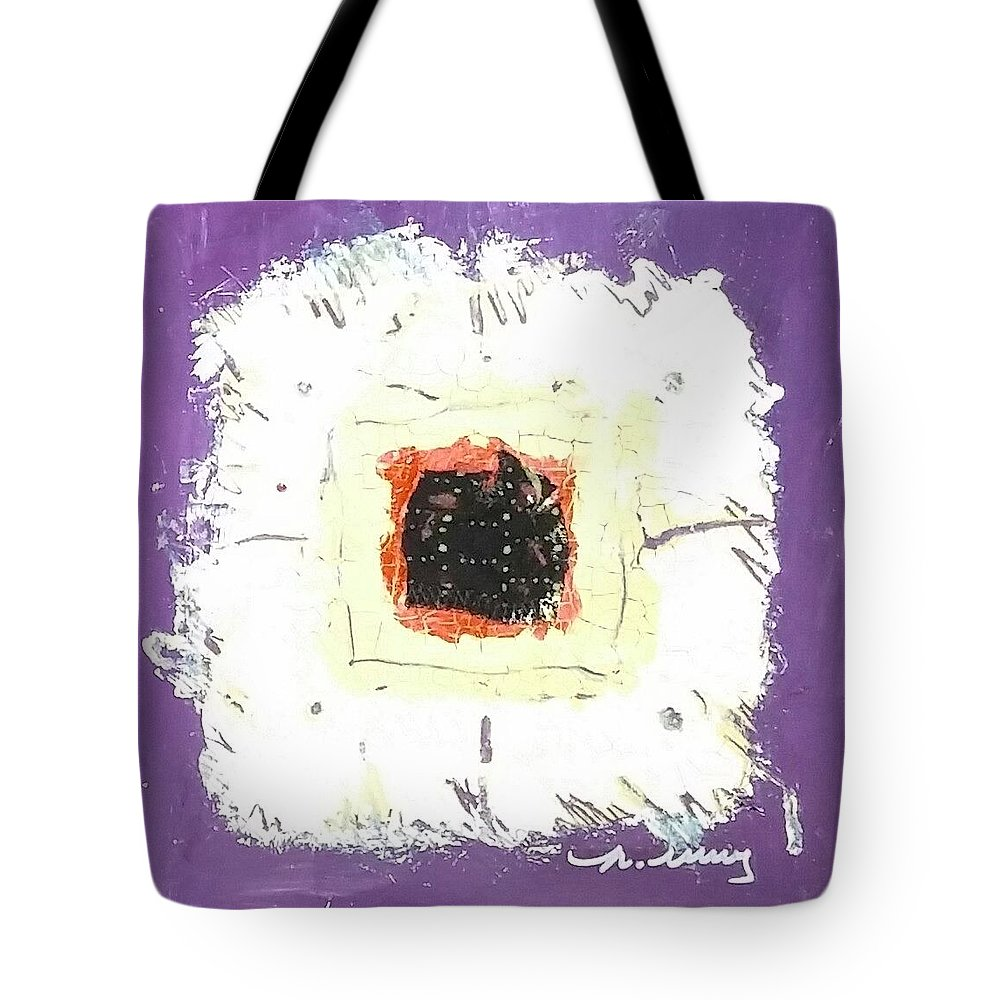 Purple Tote Bag featuring the drawing Ricky by Martha Wherry