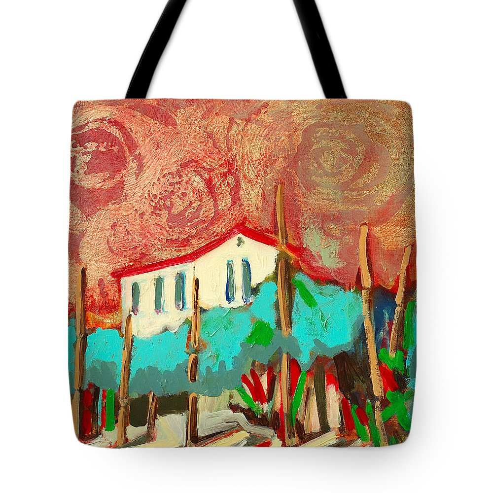 Tuscany Tote Bag featuring the painting Ricordare by Kurt Hausmann