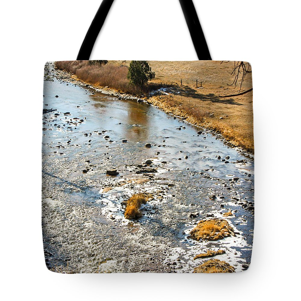 River Tote Bag featuring the photograph Riffles In The River by Greg Plamp