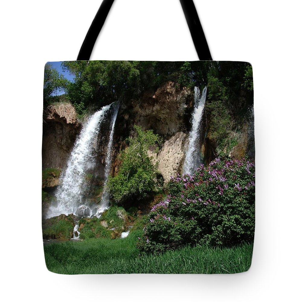 Falls Tote Bag featuring the photograph Rifle Falls Colorado by Carol Milisen