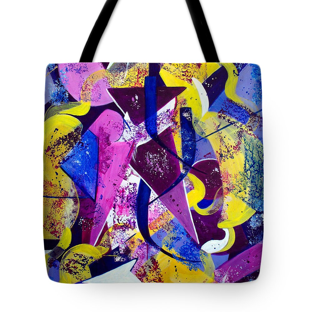ruth Palmer Tote Bag featuring the painting Right Of Passage by Ruth Palmer