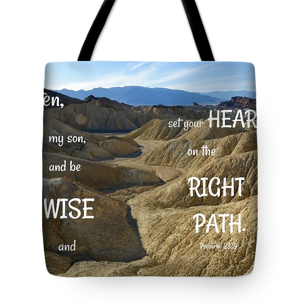 Path Tote Bag featuring the photograph Right Path by Barbara Stellwagen