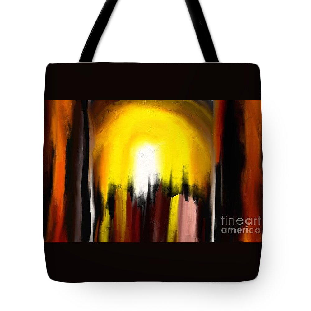 Digital Tote Bag featuring the painting Right Way by Rushan Ruzaick