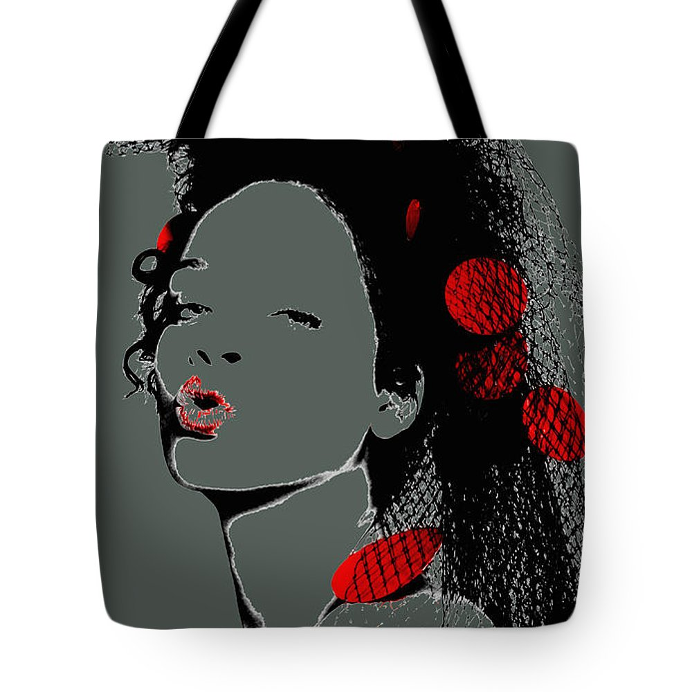 Rihanna Tote Bag featuring the mixed media Rihanna 17d by Brian Reaves