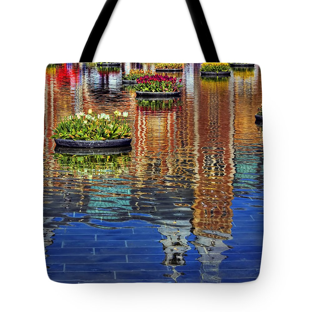 Amsterdam Tote Bag featuring the photograph Rijksmuseum Reflection by Nadia Sanowar