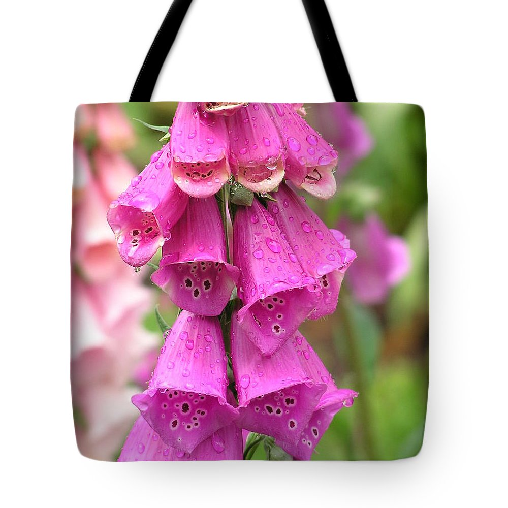 Fox Glove Tote Bag featuring the photograph Ringing Bells by Louise Magno