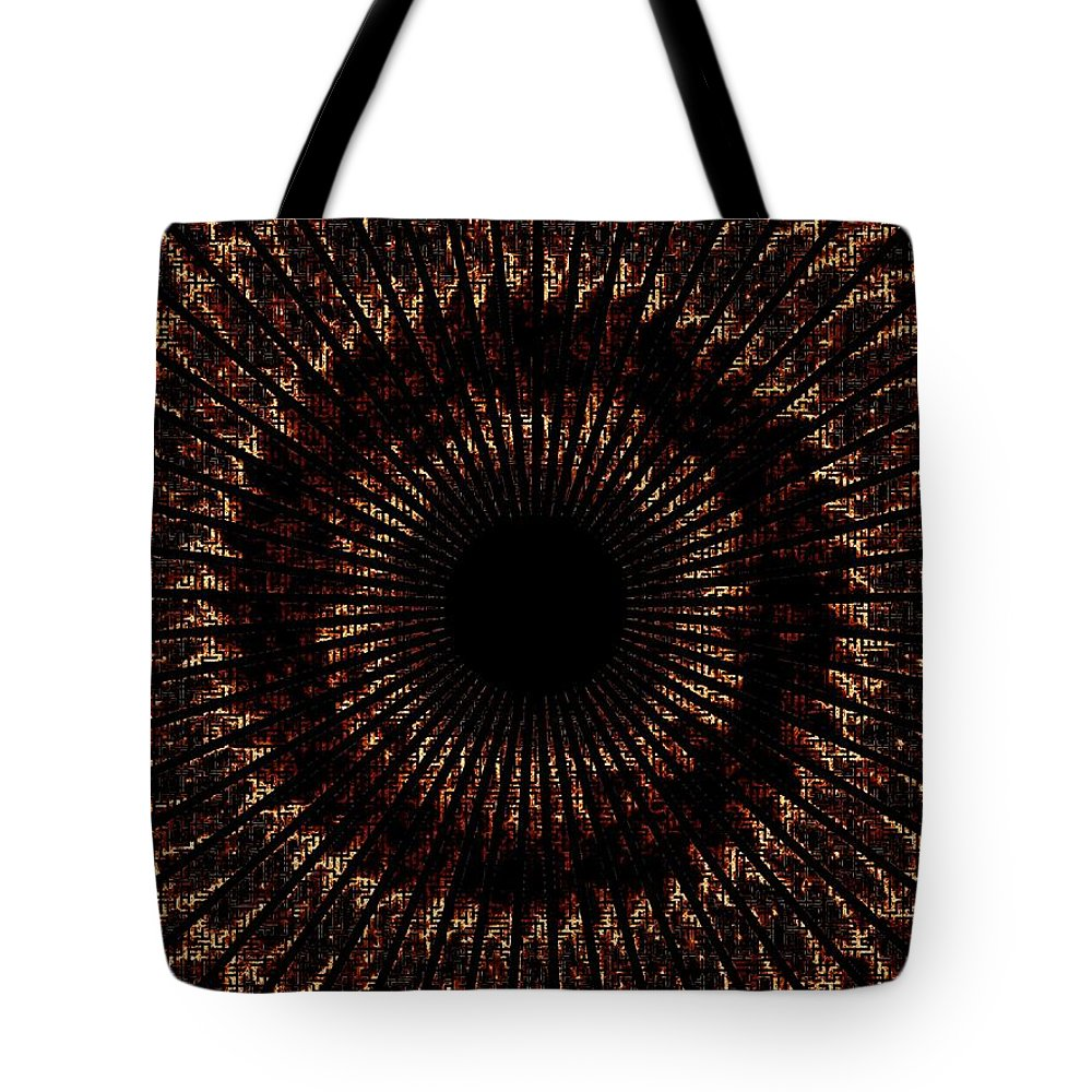 Fire Tote Bag featuring the digital art Rings Of Fire by Charleen Treasures