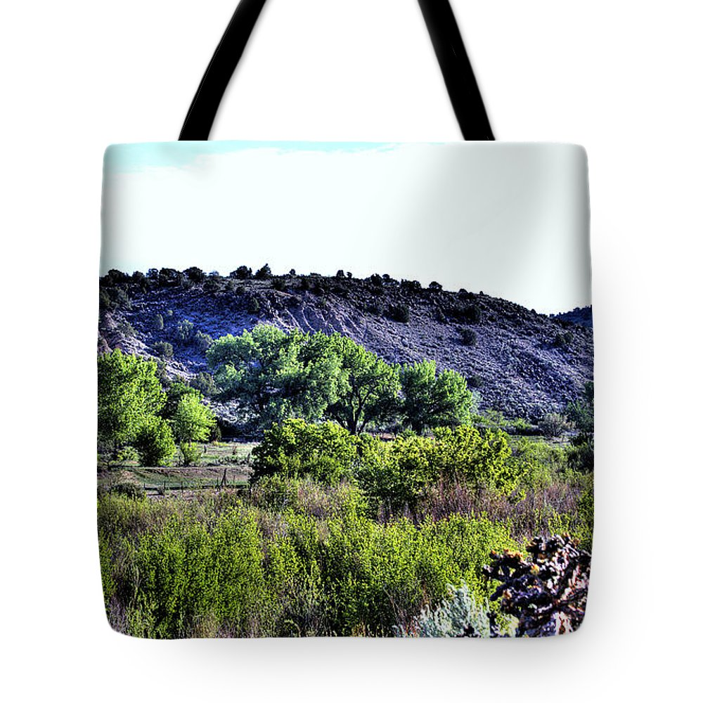 New Mexico Tote Bag featuring the photograph Rio Grande River Valley by David Patterson