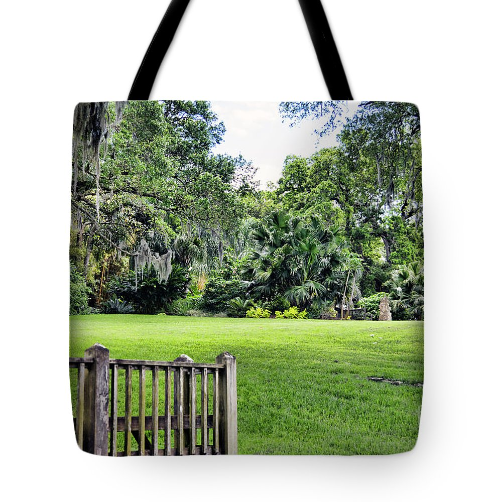 Landscape Tote Bag featuring the photograph Rip Van Winkle Gardens Louisiana by Chuck Kuhn
