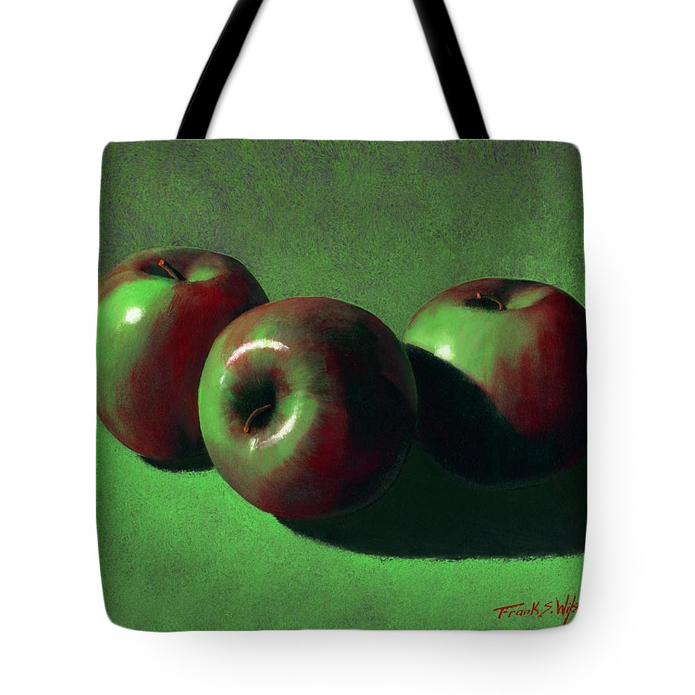 Still Life Tote Bag featuring the painting Ripe Apples by Frank Wilson