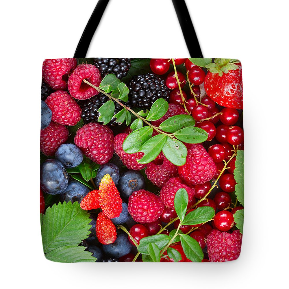 Currant Tote Bag featuring the photograph Ripe Of Fresh Berries by Anastasy Yarmolovich