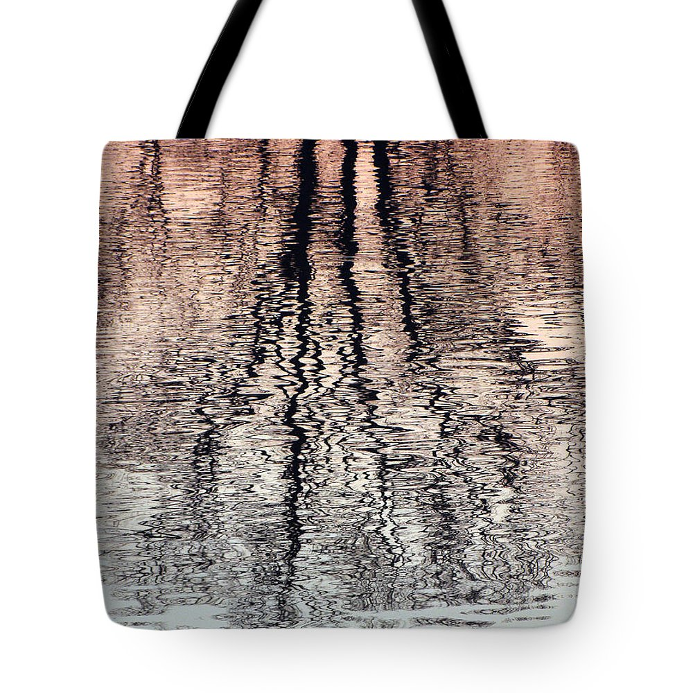 Waves Tote Bag featuring the photograph Rippled Reflection by J R  Seymour