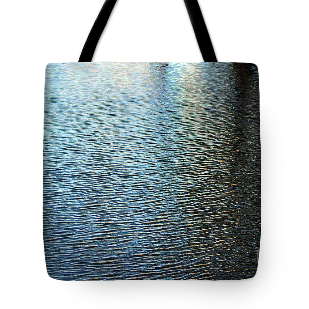 Reflection Tote Bag featuring the photograph Ripples And Reflections Abstract by Karen Adams
