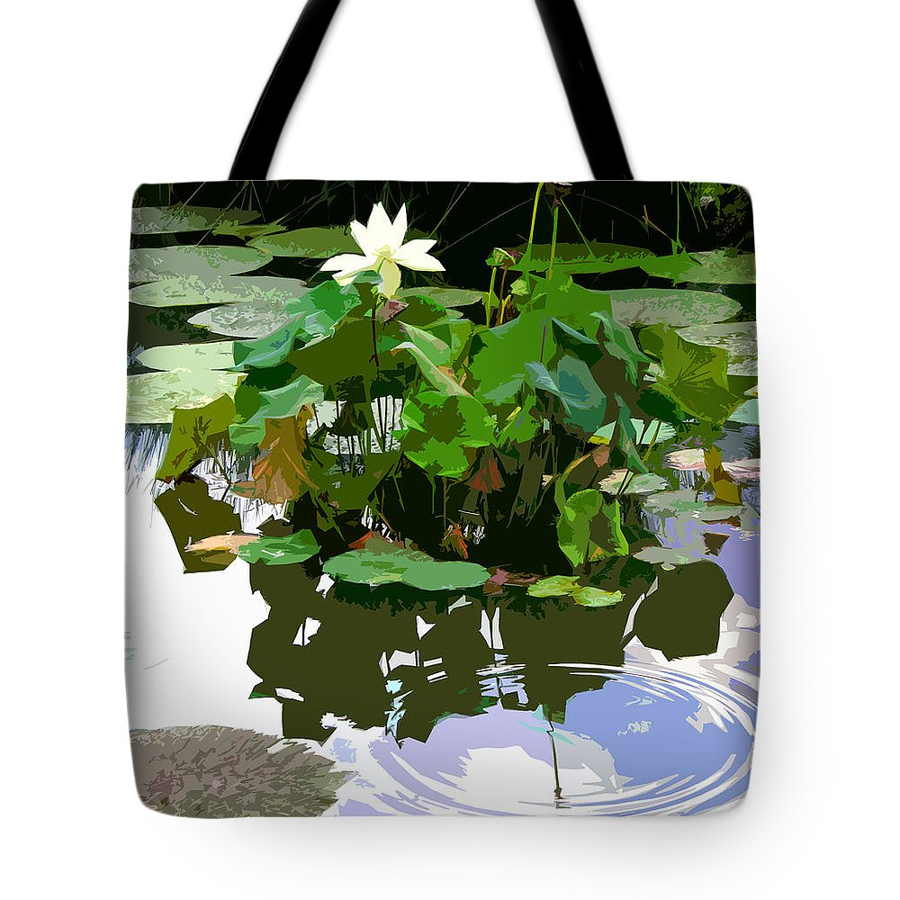 Lotus Tote Bag featuring the photograph Ripples On The Lotus Pond by John Lautermilch