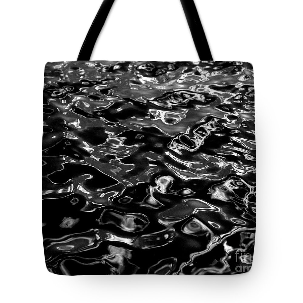 Black And White Tote Bag featuring the photograph Ripples by Peter Piatt