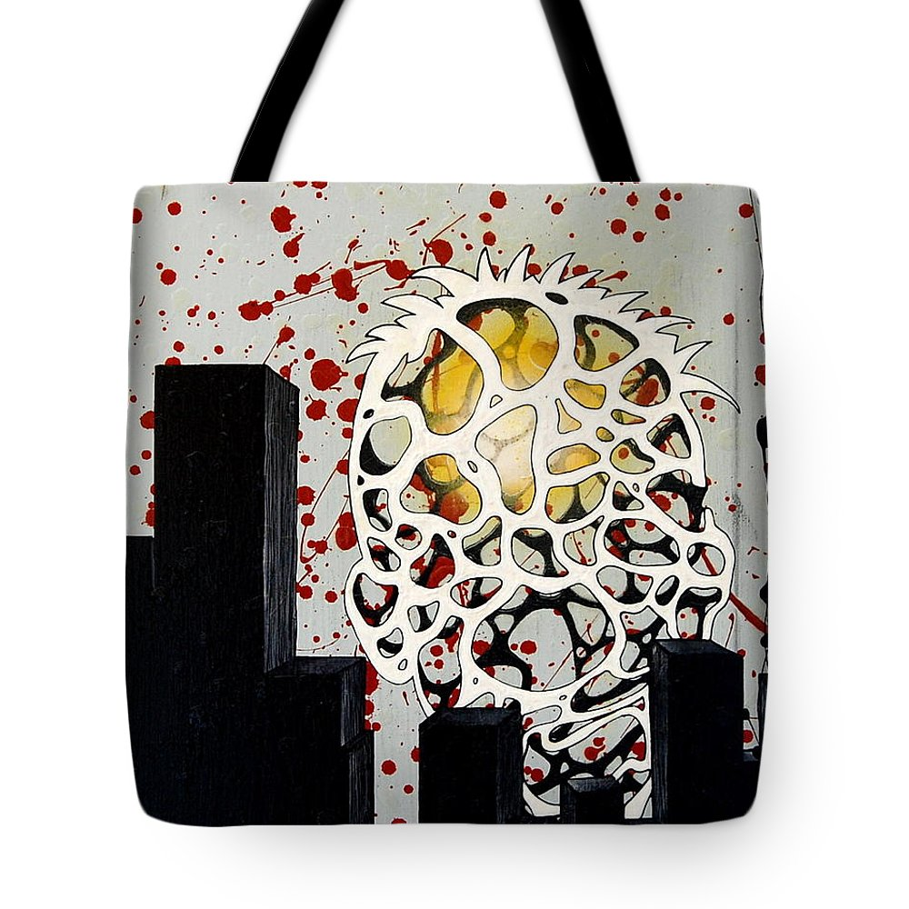 Energy Tote Bag featuring the painting Rise by A 2 H D