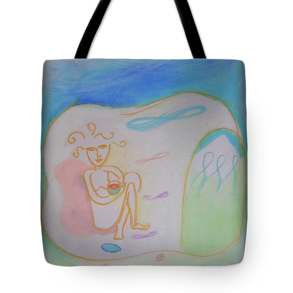 Resting Tote Bag featuring the pastel Rishikesh by Jelila