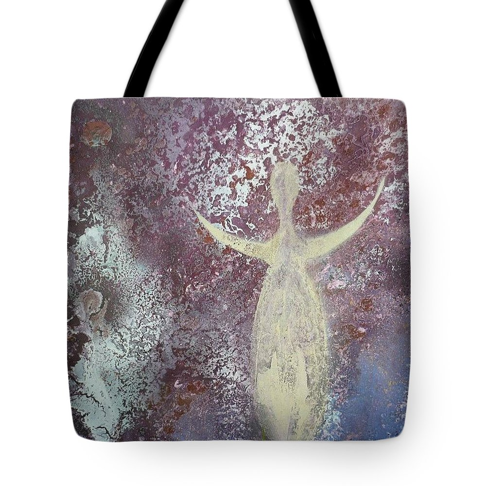Feminine Tote Bag featuring the painting Rising by 'REA' Gallery
