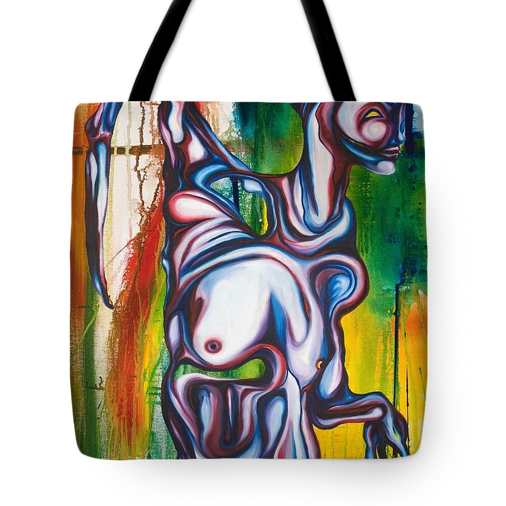 Monster Tote Bag featuring the painting Rising Son by Sheridan Furrer