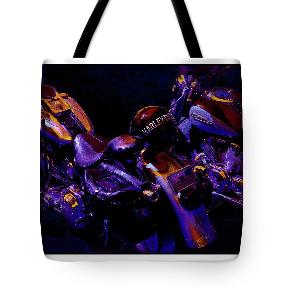 Harley Tote Bag featuring the photograph Rivalry by Mal Bray
