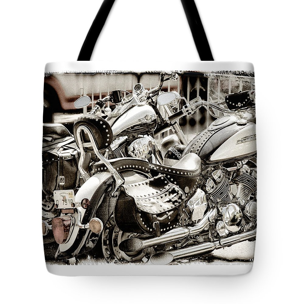 Yamaha Tote Bag featuring the photograph Rivals by Mal Bray