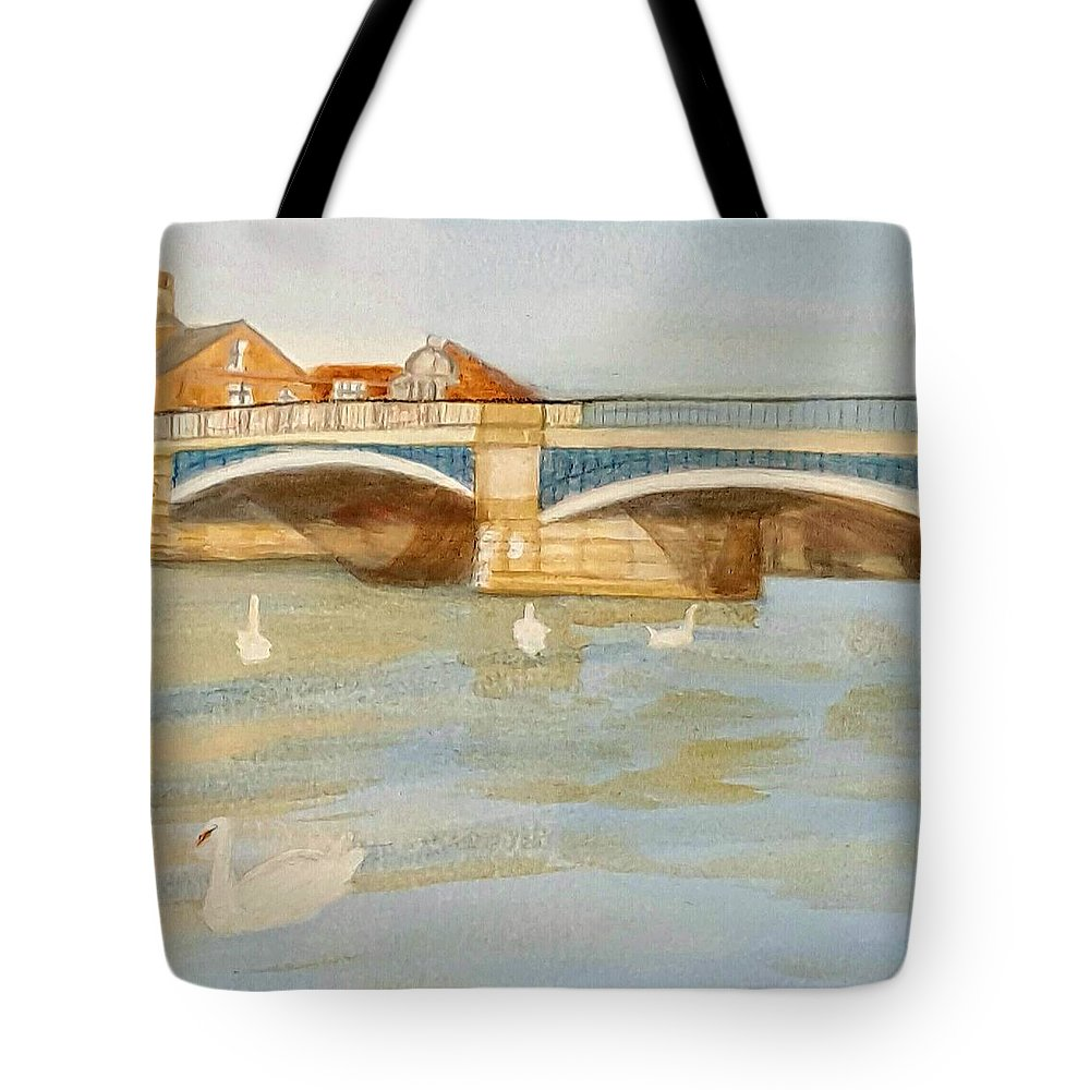 River Tote Bag featuring the painting River At Royal Windsor by Joanne Perkins