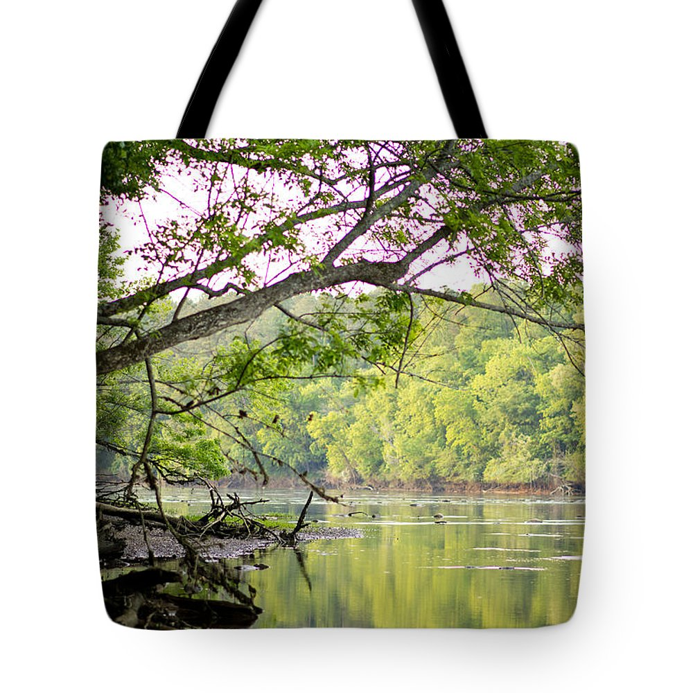 Pee Dee River Tote Bag featuring the photograph River Bank by Angie Mabry