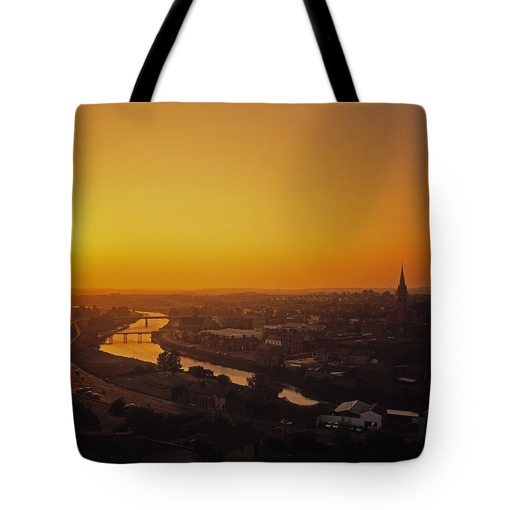 Cityscape Tote Bag featuring the photograph River Boyne, Drogheda, Co Louth, Ireland by The Irish Image Collection