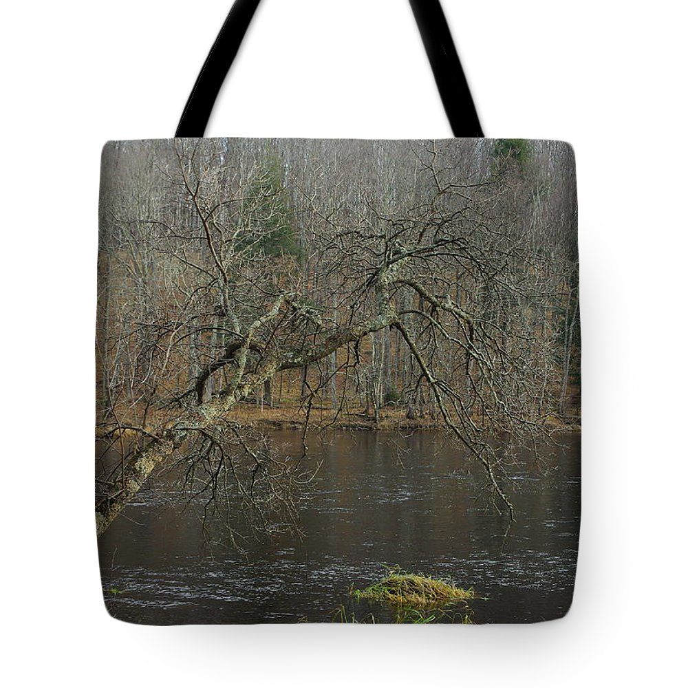 Landscape Tote Bag featuring the photograph River In The Spring by Alice Markham