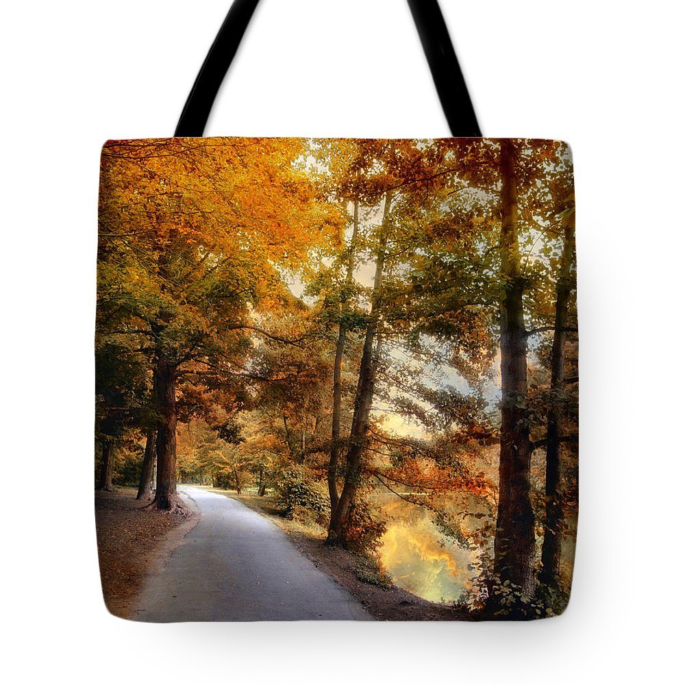 Nature Tote Bag featuring the photograph River Lights by Jessica Jenney