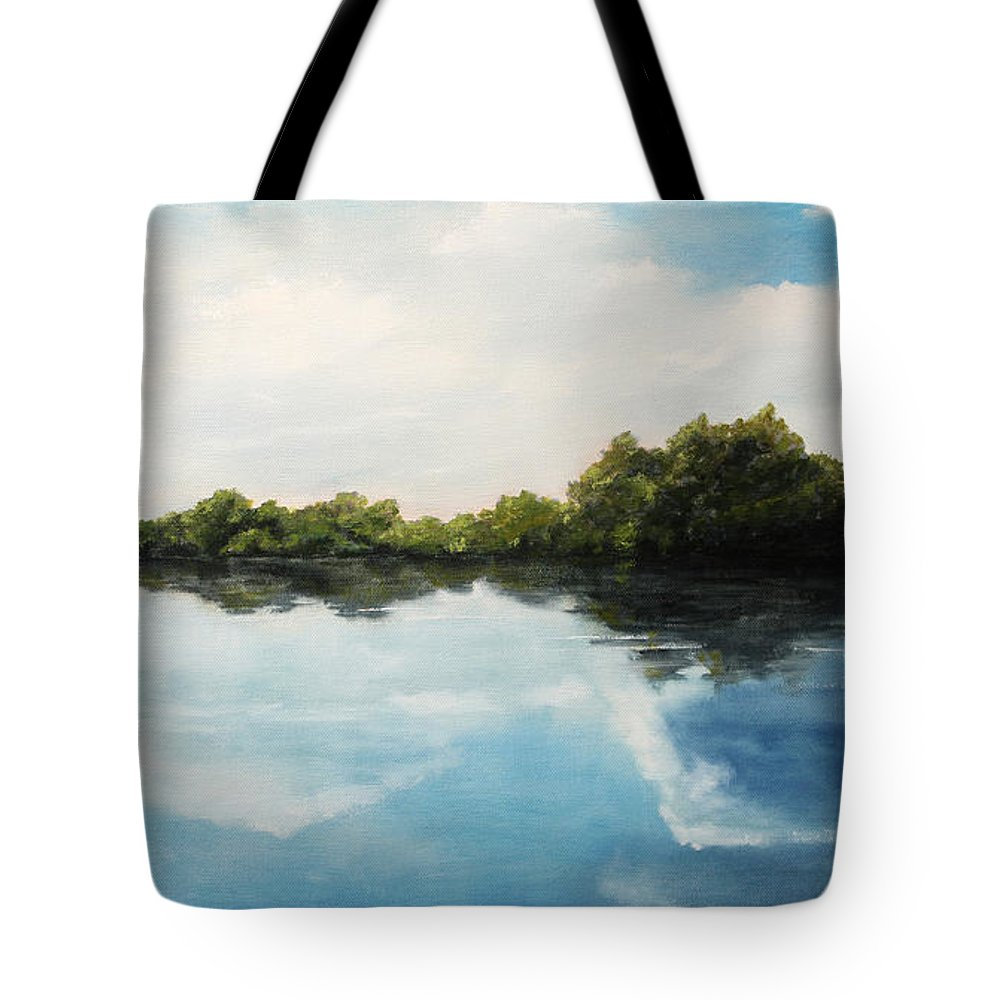 Landscape Tote Bag featuring the painting River of Dreams by Darko Topalski