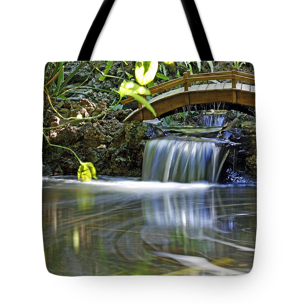 Stream Tote Bag featuring the photograph River Of Eternity by Mitch Cat