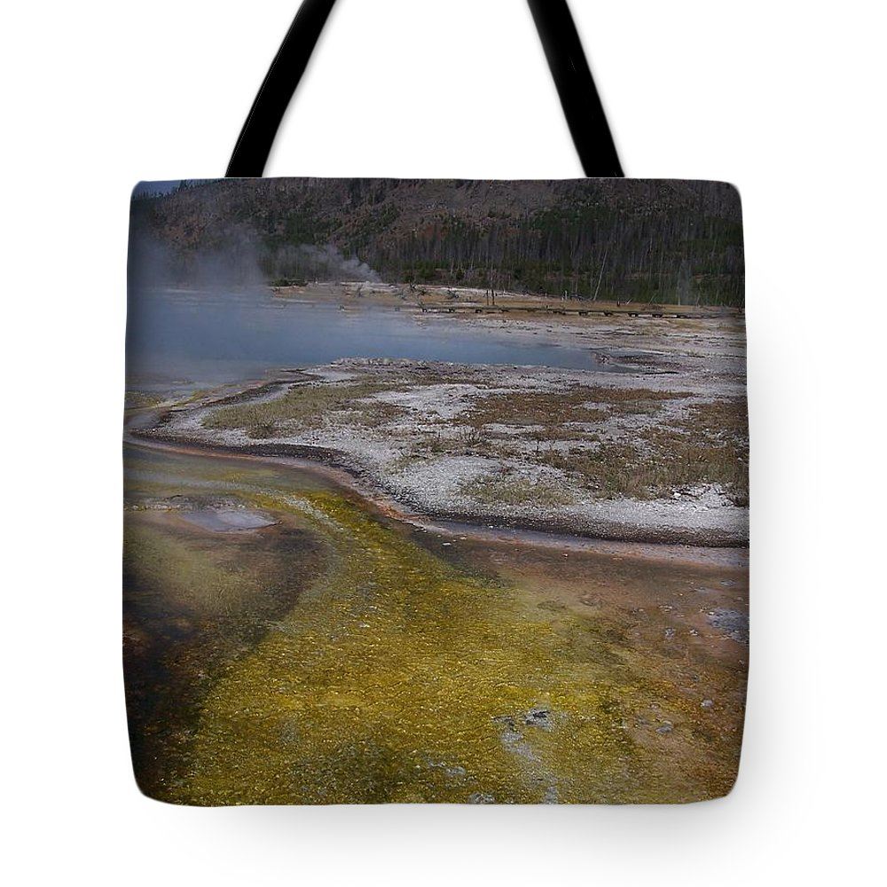Geyser Tote Bag featuring the photograph River Of Gold by Gale Cochran-Smith