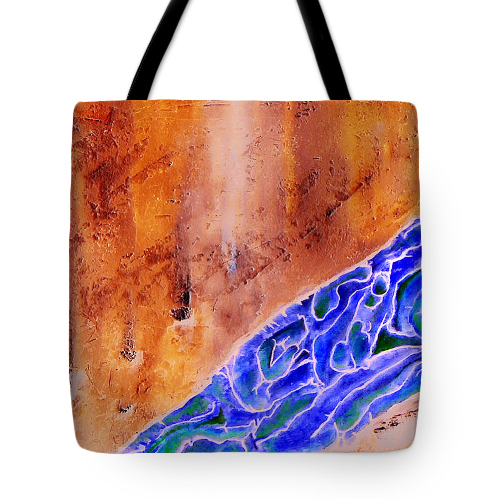 Life Flow River Water People Birth Tote Bag featuring the mixed media River Of Life by Veronica Jackson