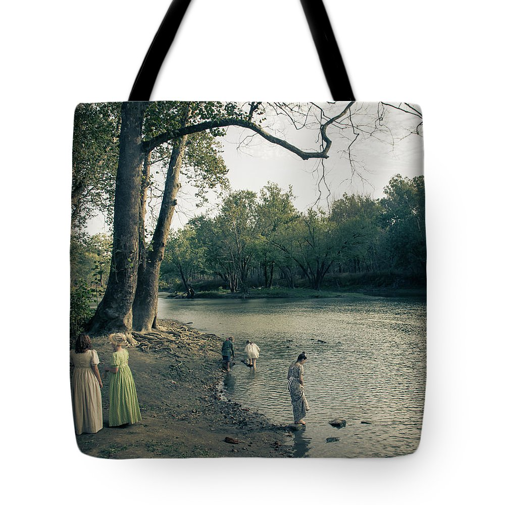 River Tote Bag featuring the photograph River Playing by Greg Sommer