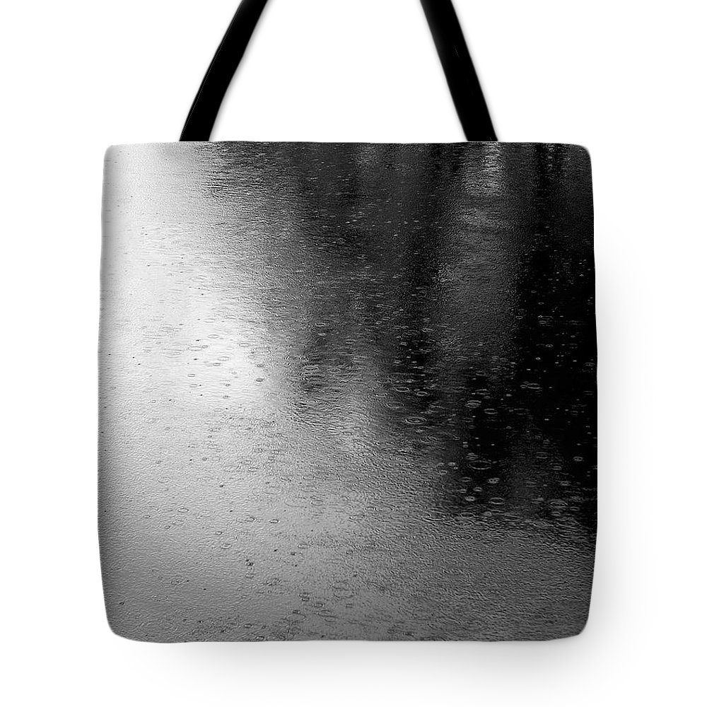 River Tote Bag featuring the photograph River Rain Naperville Illinois by Michael Bessler