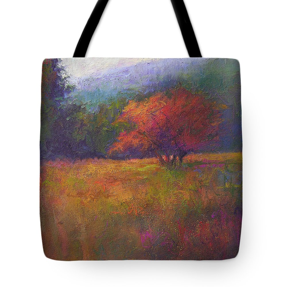 Landscape Tote Bag featuring the painting River Road Above New Hope by Susan Williamson