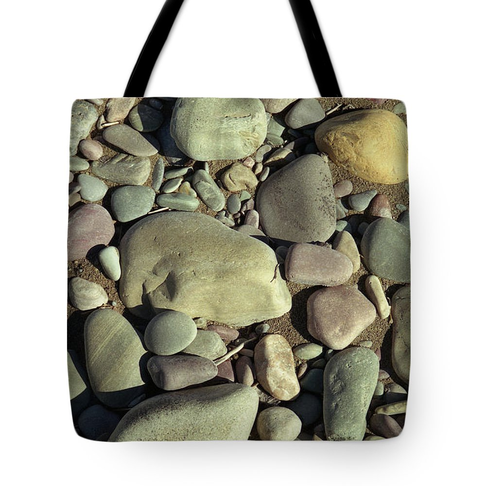 River Rock Tote Bag featuring the photograph River Rock by Richard Rizzo