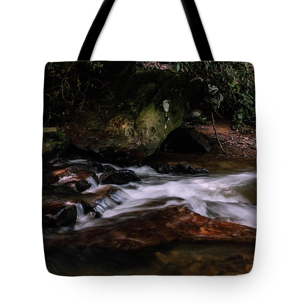 Photography Tote Bag featuring the photograph River Rocks by Jessica Hamlyn