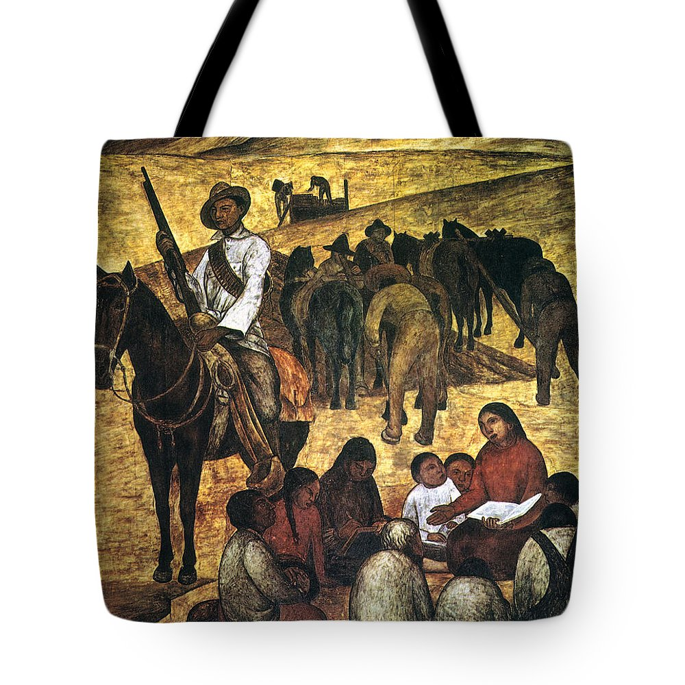 Agricultural Tote Bag featuring the photograph Rivera: Schoolteacher by Granger