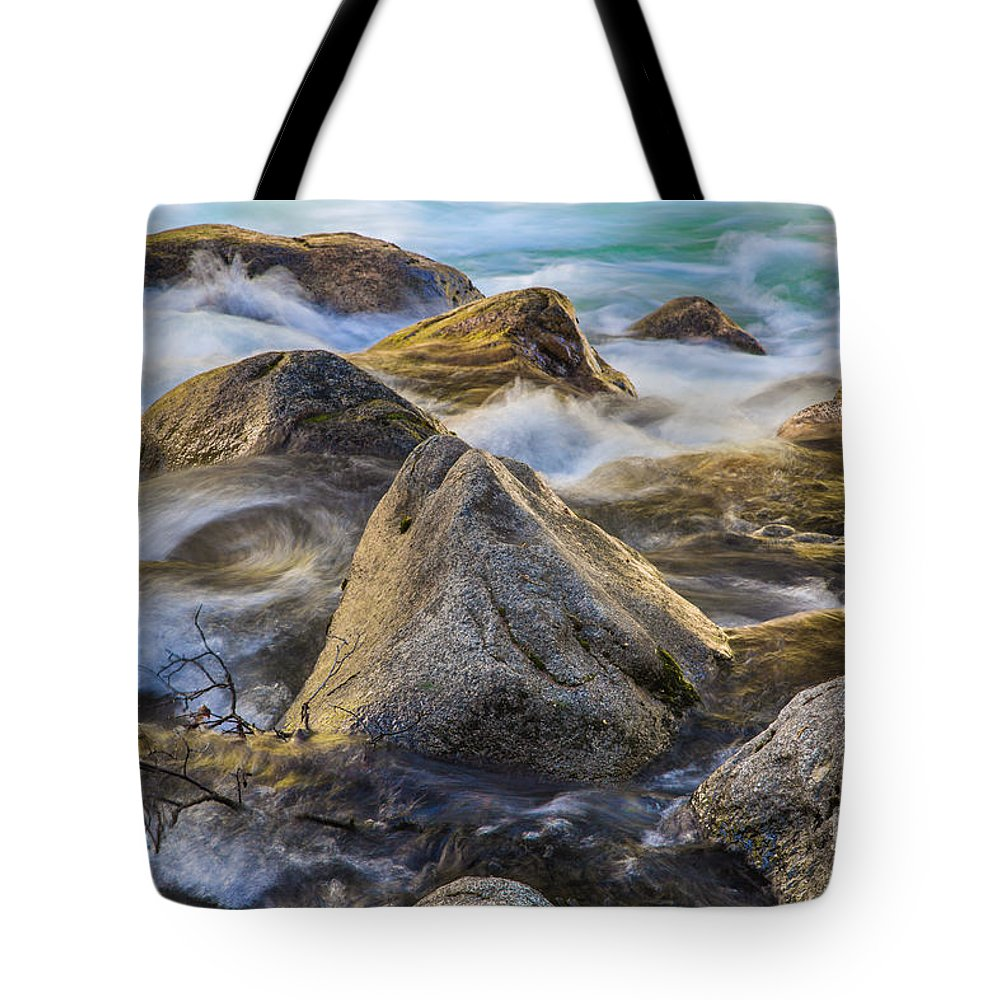 Turbulent Waters Tote Bag featuring the photograph Riverbank by Anthony Bonafede