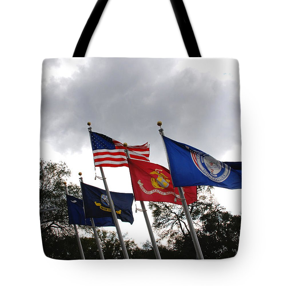 Photography Tote Bag featuring the photograph Riverfront Park In Charleston Sc by Susanne Van Hulst