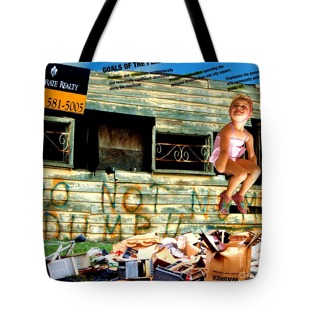 Riverfront Development Tote Bag featuring the photograph Riverfront Visions by Ze DaLuz