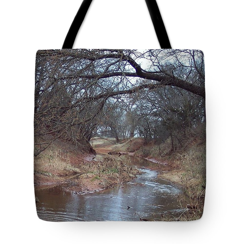 Landscapes Tote Bag featuring the photograph Rivers Bend by Shari Chavira